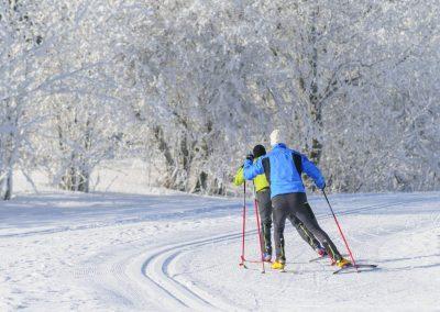 biegówki-zima-śnieg-mazury-folwark-łękuk
