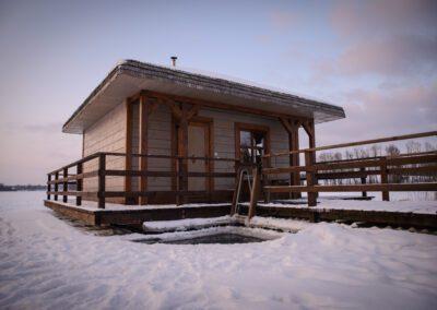 Ruska bania zimą