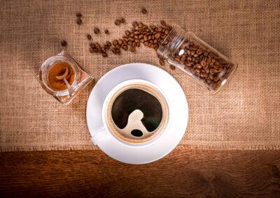 Restauracja kawa czarna