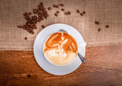 Restauracja kawa cappuccino