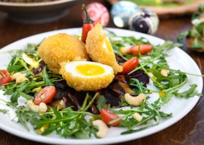 Wielkanoc catering Jajka panierowane w panko