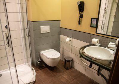 Łazienka w pokoju 2-osobowym w Folwarku