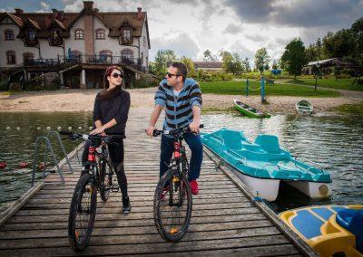 Wypożyczenie rowerów, sprzętu wodnego
