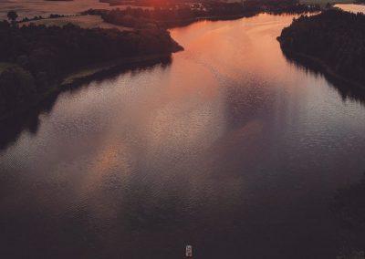 Jezioro Łękuk z Lotu Ptaka