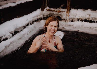 Bania - kąpiel w przeręblu - morsowanie