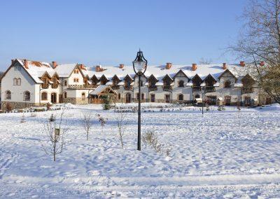 Folwark Łękuk zimą