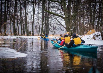 Zimowy spływ kajakowy - Mazury